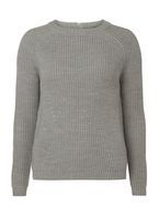 Womens Grey Silver Zip Jumper- Grey