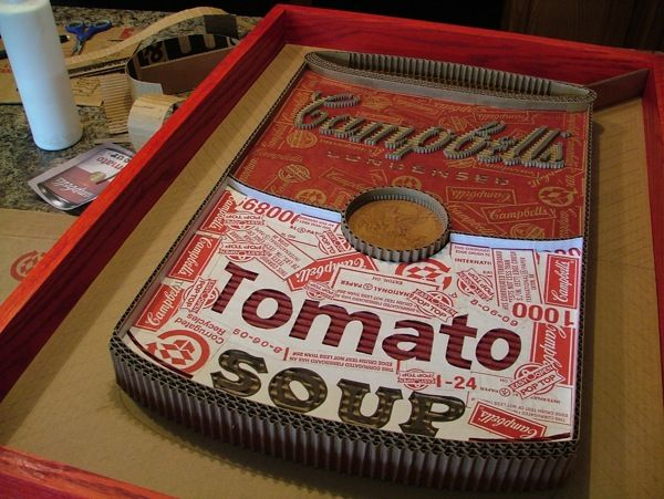 Campbell's Soup Recycled Art