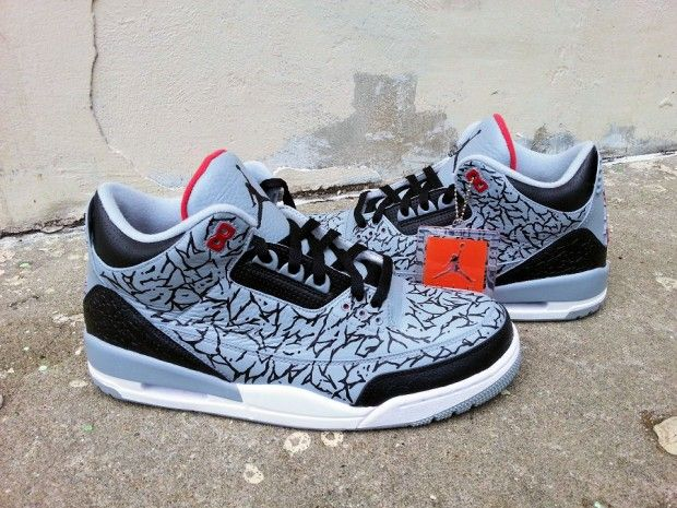 "Air Jordan 3 ""Reverse Cement"" Custom"