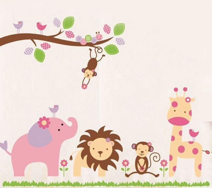 In The Wild Decal   Visit Facebook for more children's Wall Decals.  Precious Little Angels