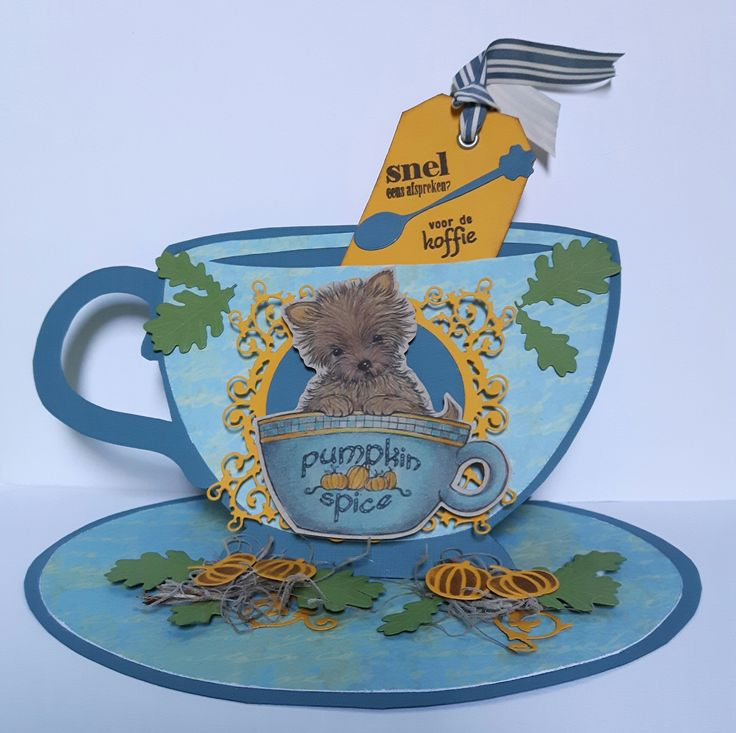470.713.589 Dutch Doobadoo Card Art Teacup