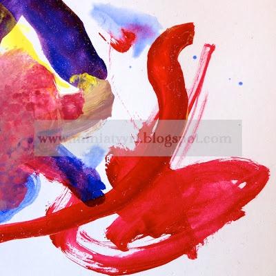 3-year-old child's painting - Kolmevuotiaan lapsen maalaus