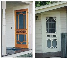 Door 7110 and Door 7102 at the owner's house - Vintage Woodworks. . .love vintage screen doors!