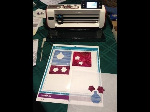 My first session with the Brother ScanNCut! - half hour Out of the Box to Cut Fabric. Great instructional.