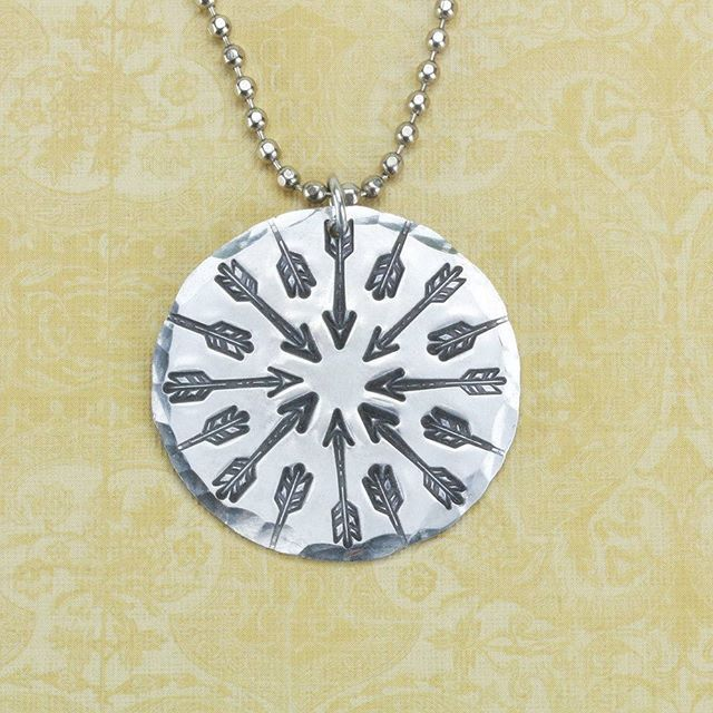 Aim high! We've added more arrows to our collection! Check out our latest Beaducation Original Metal Design Stamps including our 11mm Traditional Arrow Metal Design Stamp shown here.