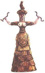 estaba de moda en los cretenses  para la mujer el corpiño ya que dejaba a las mujeres mas hermosas