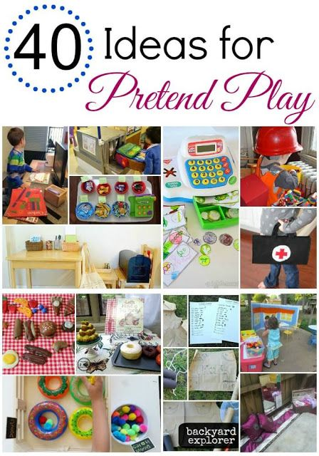 40 ideas for pretend play                                                                                                                                                                                 More