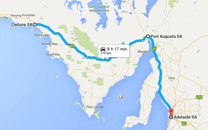 Ceduna -> Port Augusta -> Adelaide - Perth To Melbourne Road Trip