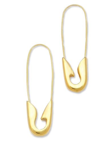 Rock Your Closet with Safety Pin Earrings