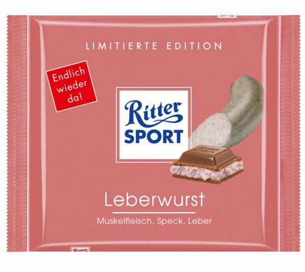 RITTER SPORT Fake Sorte Leberwurst