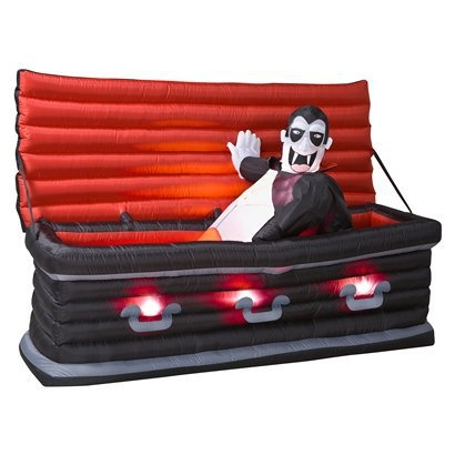walmart long airblown halloween inflatable animated rising vampire from coffin