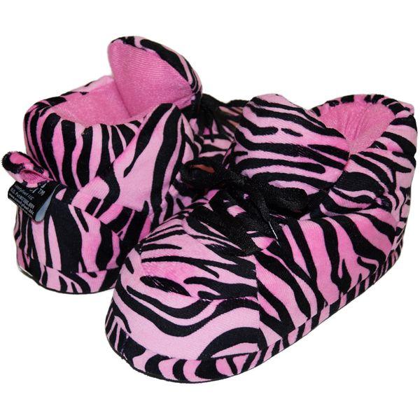 Snooki's Pink Zebra Print : Snooki : Happy Feet Slippers : BuyHappyFeet.com : snookislippers.com