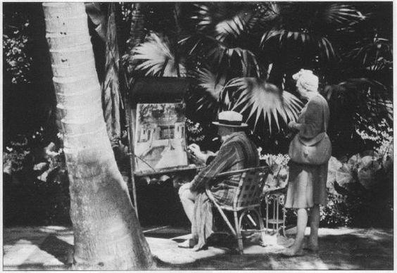 Consuelo Vanderbilt's Casa Alva   A bathrobed Winston Churchill, with wife Clementine behind him,