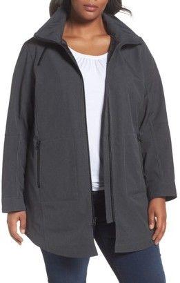 Shop Now - >  https://api.shopstyle.com/action/apiVisitRetailer?id=656253603&pid=uid6996-25233114-59 Plus Size Women's Kristen Blake Stand Collar Raincoat With Detachable Hood  ...