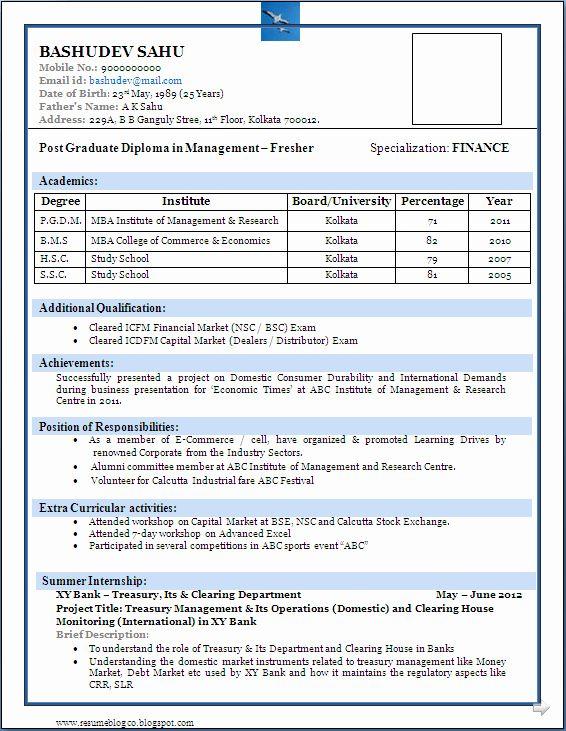 Simple Resume Format For Freshers Elegant Best Resume Format For Freshers Niveresume Resume Format Download Resume Format For Freshers Download Resume