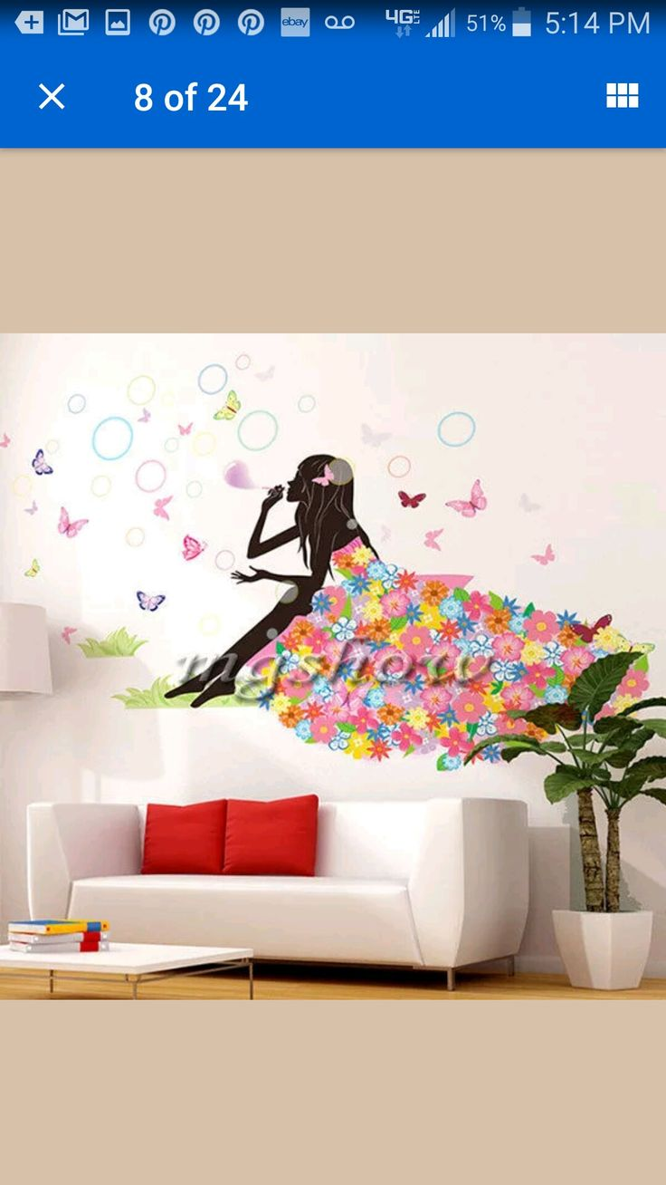 great wall decal cute for girls bedroom girls bedroom on wall stickers for bedroom id=99044