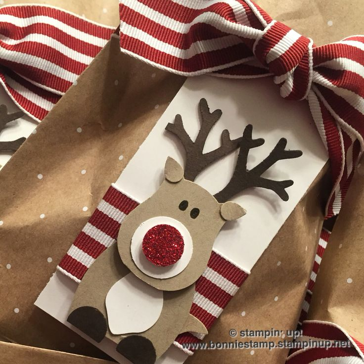 Just too cute! Love punch art! #holiday #treatbags Thanks Dena for the inspiration www.bonniestamp.stampinup.net
