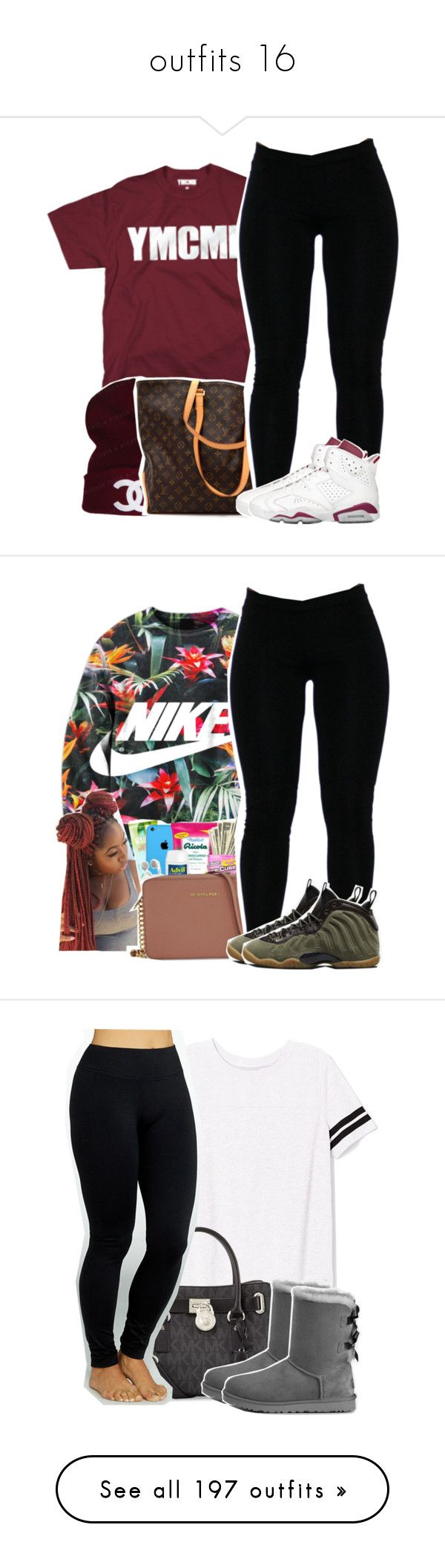 """outfits 16"" by jazzyjada99 ❤ liked on Polyvore featuring CC, Louis Vuitton, NIKE, Victoria's Secret PINK, MICHAEL Michael Kors, Yummie by Heather Thomson, UGG Australia, Topshop, Case-Mate and BP."