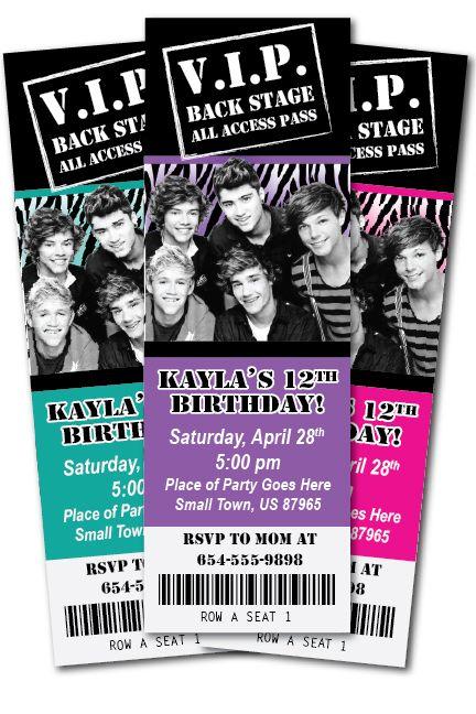 birthday invitation idea for Kaylee's 8th birthday