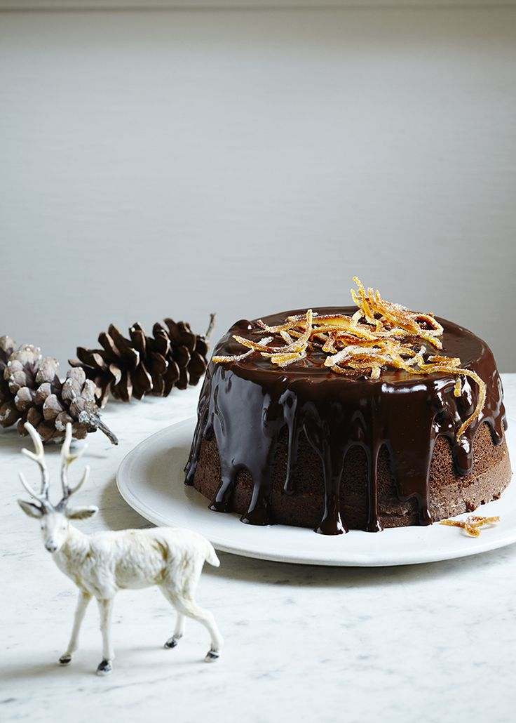 Chocolate Gingerbread Cake With Candied Orange — Kitchen Repertoire