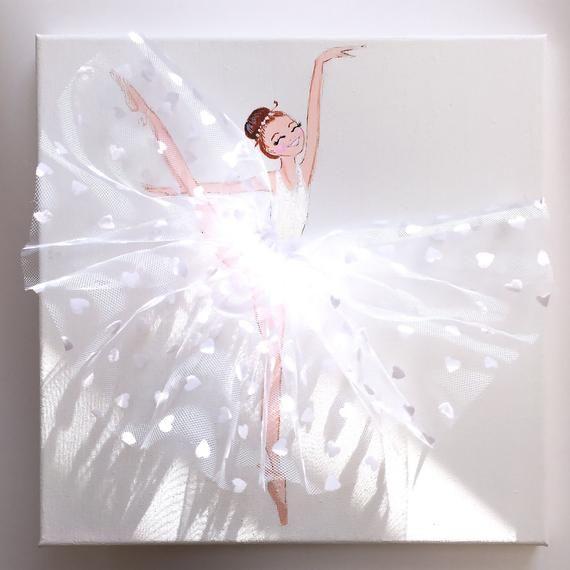 Ähnliche Produkte wie Ballerina Nursery Decor, Nursery Murals, Tales …