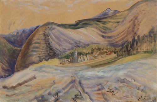 Village Below the Mountain, 1933. Emily Carr. Pemberton trip