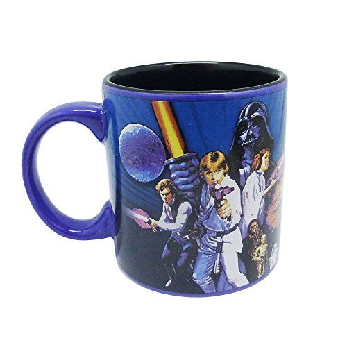 Silver Buffalo SW4434 Disney Star Wars Episode 4 Ceramic Mug 20-Ounces @ niftywarehouse.com #NiftyWarehouse #Geek #Products #StarWars #Movies #Film