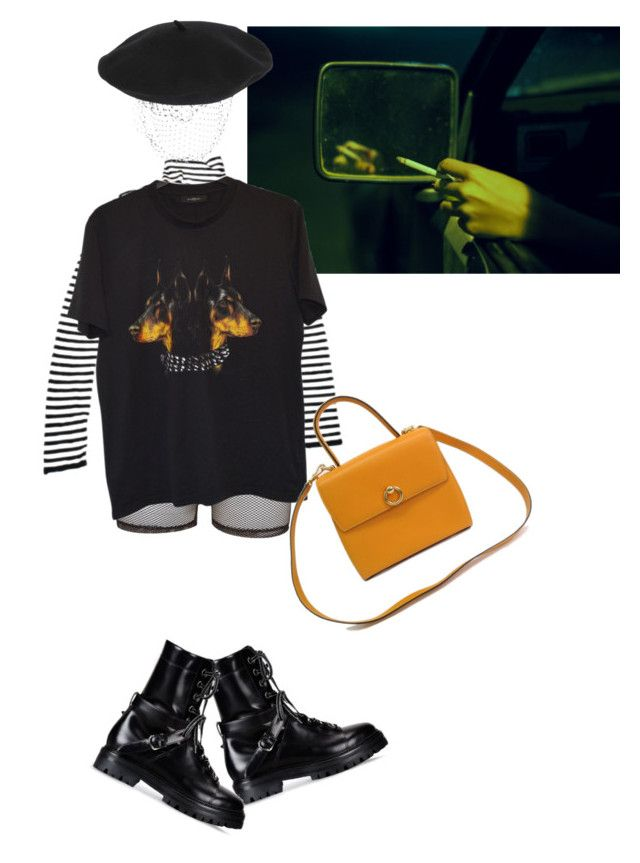 """""""Untitled #638"""" by chandele ❤ liked on Polyvore featuring Bitching & Junkfood, Givenchy, Silver Spoon Attire, Valentino and CÉLINE"""