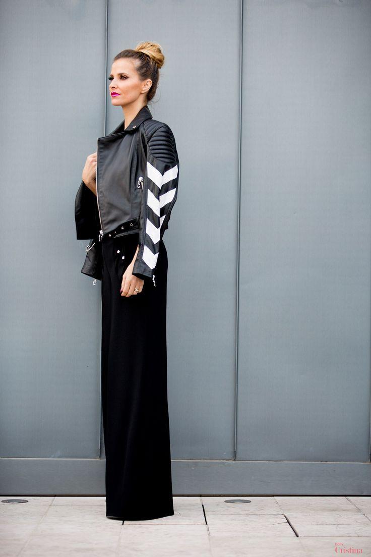Cristina Ferreira | Daily Cristina | Fashion | Top Elisabetta Franchi na Casiraghi | Calças Elisabetta Franchi na Casiraghi | Casaco Cabedal Concepto | Sapatos Versace