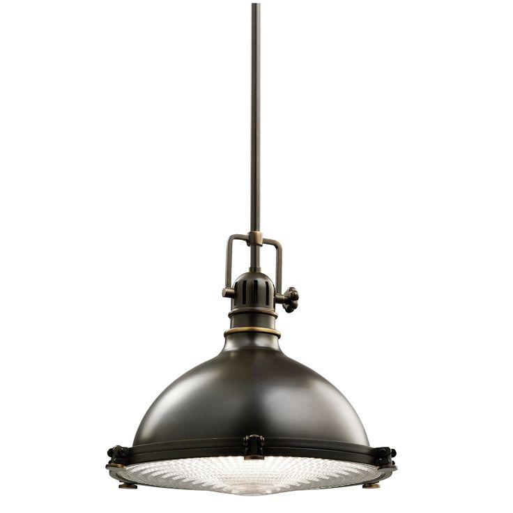"1 Light 13.5 ""pendant fixture with Industrial styling in Olde Bronze - Kichler Lighting - pendant, ceiling, landscape light fixtures & more"