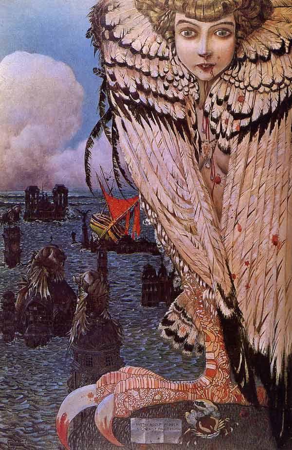 Satiated Siren by Gustav-Adolf Mossa, 1905