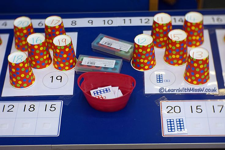 Welcome back to the maths table! We're now learning about numbers up to 20 and there are plenty of opportunities here for exploration, play and learning. So what is a maths table? Basically I've just extended my 1 – 10 maths provocations for numbers up to 20 and taped it all down. #math #number #placevalue