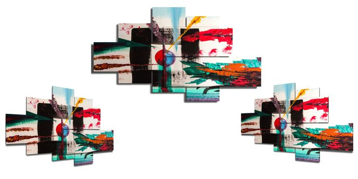 NEWS!!! From today DUUDAART, as a result of many requests, expands its range of pictures with the XSMALL formats with 4,5, 6 pieces.  These can be used in more confined spaces with a minimum size width of  78 cm. We look forward to your feedback and a visit on our website www.duudaart.com !