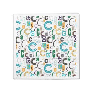 Monogram paper napkins initial C