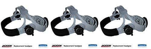 Jackson Safety 370 Replacement Headgear (20696), Adjustable Jackson Welding Helmet Parts, Black and Gray (3)