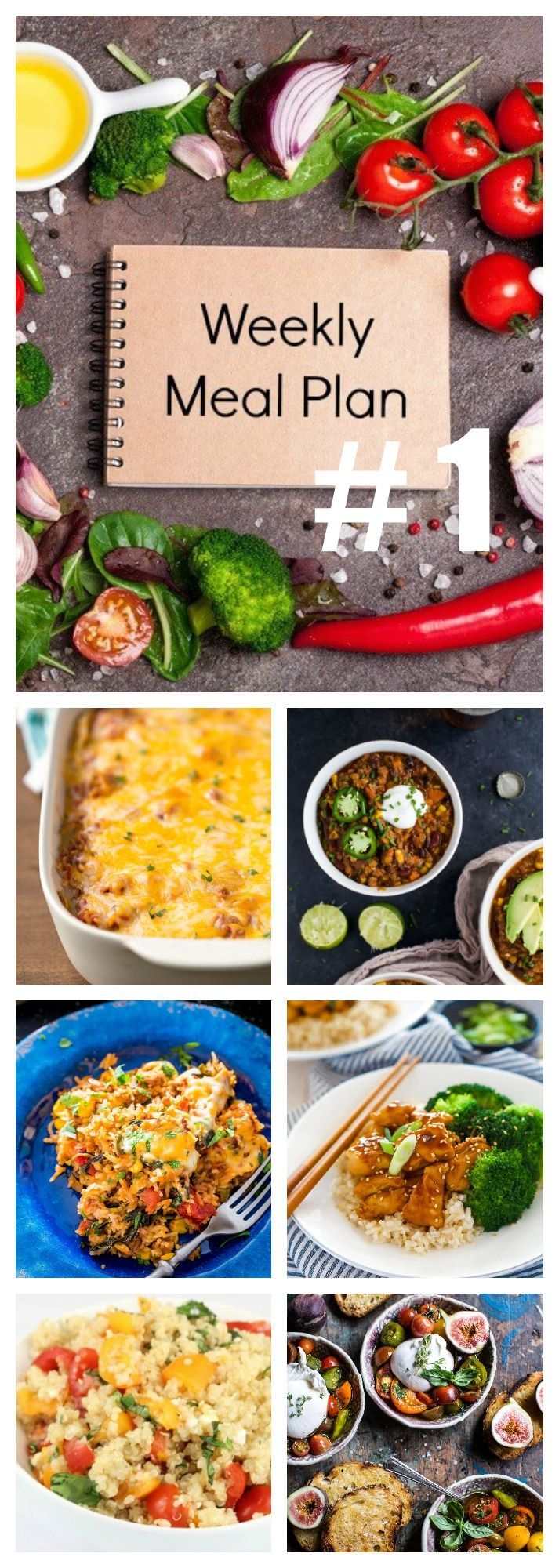 A WEEKLY MEAL PLAN! I HAVE SO MANY DELICIOUS RECIPES FOR  YOU THIS WEEK. LOTS OF MAIN DISHES TO ADD TO YOUR DINNER LIST. PLUS A BREAKFAST, LUNCH AND EVEN A DESSERT,