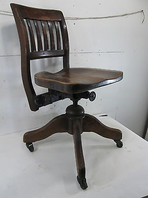 Vintage Wood Office Chair | ... – Vintage Adjustable Wooden Office Chair - Antique Chairs For Sale