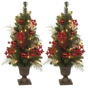 5 Ft Pre Lit Artificial Christmas Trees