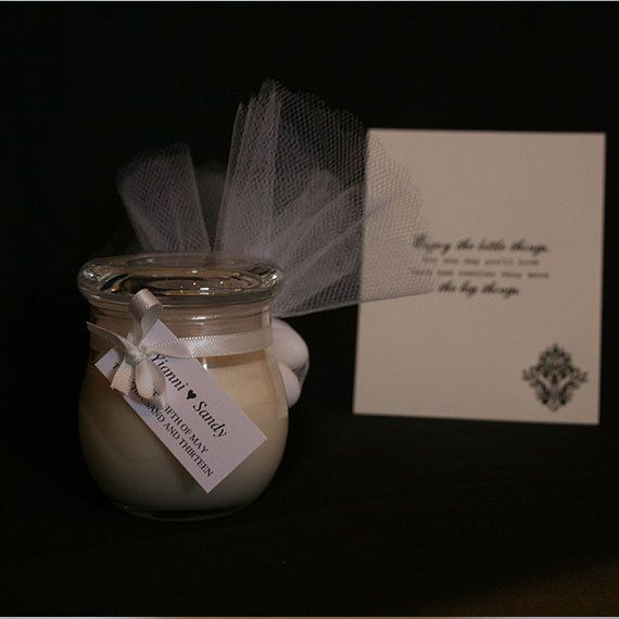 Wedding Bonbonniere Candles by MascandFemme on Etsy, $5.60