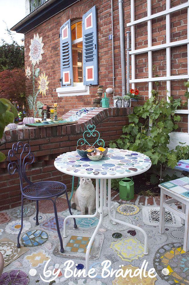 Die besten 25+ Mosaiktische Ideen auf Pinterest Mosaik, Mosaik - garten anlegen neubau kosten