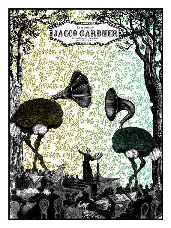 Jacco Gardner & Eerie Wanda Affiche de concert par 2lestudios