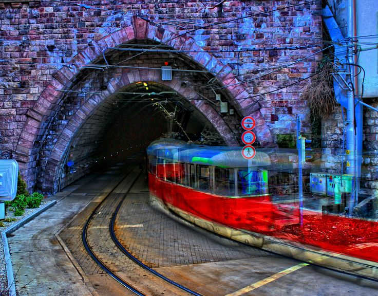 Tram tunnel under castle hill, Bratislava