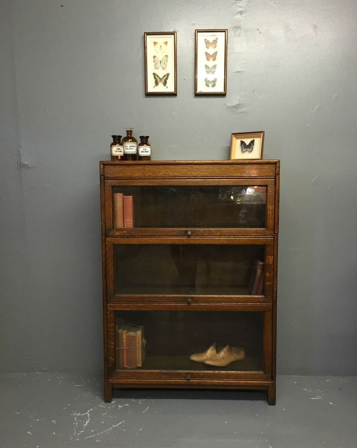 Vintage Antique Globe Wernicke Style Oak Lawyers Barristers Bookcase Cabinet - 17 Best Barrister Bookcases Images On Pinterest Bookshelves, Book