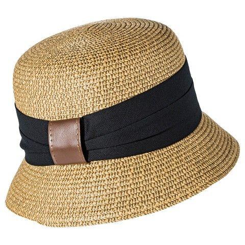 Women's Merona® Cloche Hat with Black Sash - Tan - Target