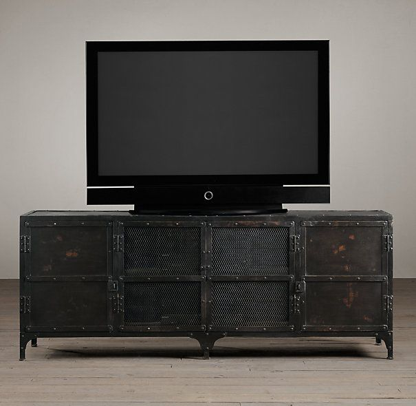 Industrial Tool Chest Media Console | Wood Shelving & Cabinets | Restoration Hardware