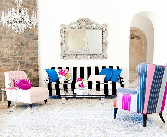 Striped Living Room Chair   Winda 7 Furniture