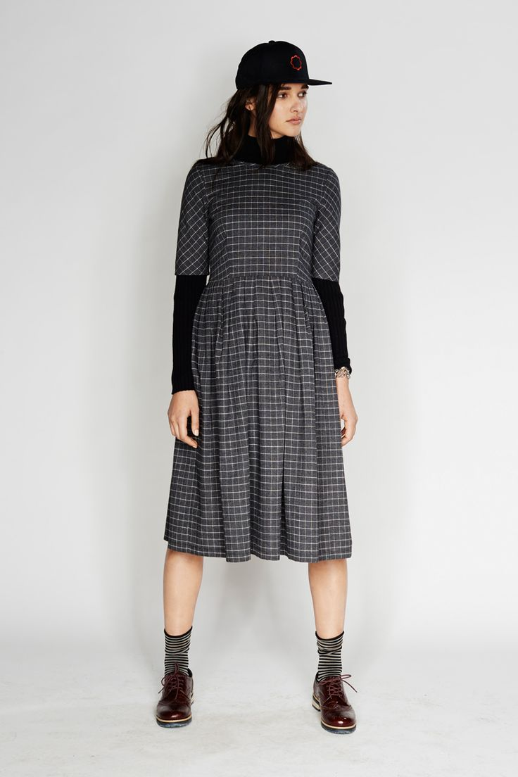 Sylvester - Forever: Checkered dress, Skinny rib jumper, Forever cap