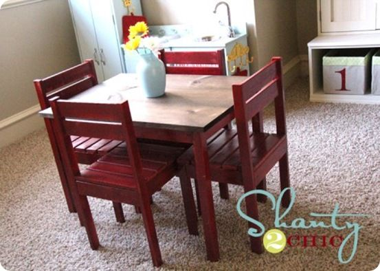 DIY Children's play table that cost less than $30 in wood. Awesome!
