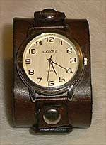 Wide Leather Wrist Watches - the bulk was still cool...
