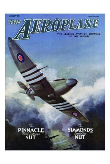 Spitfire Aeroplane Magazine Cover Print 1949 £7.99
